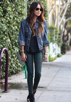 A Gap denim jacket as featured on the blog Sincerely Jules.
