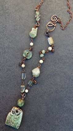 Sharon Borsavage - GREEN WITH ENVY necklace, amethyst prehnite jade by livewirejewelrysb