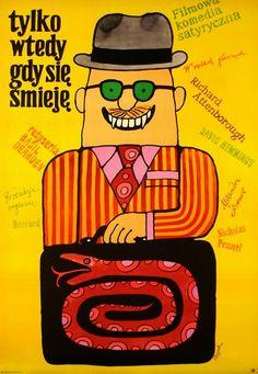 Only When I Larf Tylko wtedy gdy sie smieje Flisak Jerzy Polish Poster