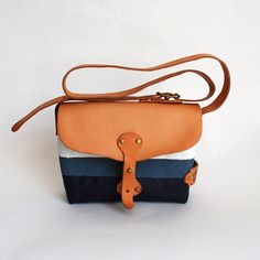 The Superior Labor | Paint Small Shoulder Bag | BlueGray×Navy