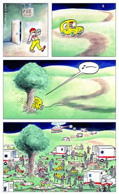 "Morbid Comics Where Death Is The Punchline - Funny memes that ""GET IT"" and want you to too. Get the latest funniest memes and keep up what is going on in the meme-o-sphere. Best Funny Pictures, Funny Images, Funny Photos, Funny Relatable Memes, Funny Jokes, Hilarious, It's Funny, Perry Bible Fellowship, Funny Accidents"