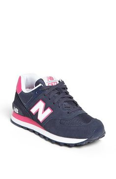 New Balance '574' Sneaker (Women) | Nordstrom. A navy and pink combo. My fave version of girly.