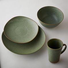 Terra Green Stone Dinnerware Collection
