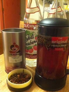 DIY tea infused vodka, oh my, have to try this.