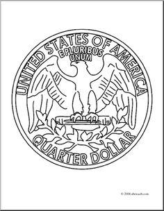 tail of quarter coloring page coloring pages