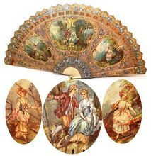 Vernis Martin on Ivory. The Martin brothers developed a varnish in rich green color. It became known as vernis martin. Antique Fans, Vintage Fans, Hand Held Fan, Hand Fans, Fan Decoration, Old Fan, Minis, Objet D'art, Vintage Accessories