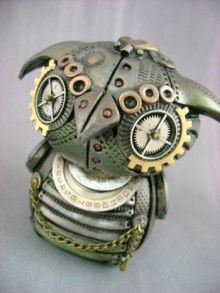 LoveIt   Steampunk~I <3 owls. I just want to put this little MechOwlie onto a necklace and rock it! - courtesy of geek crafts and etsy.com