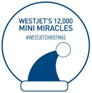 2151 mini miracles and counting. 12,000 #WestJetChristmas On December 9, 2015 we are celebrating WestJet's 12,000 mini miracles day. WestJetters wearing blue Santa hats will be joining Blue Santa to make 12,000 mini miracles happen...
