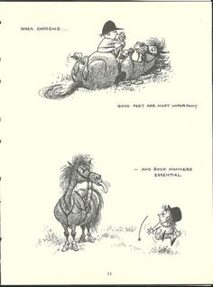 Thelwell's Original Vintage Pony Horse Mount Cartoon Print 1964 Comical | eBay