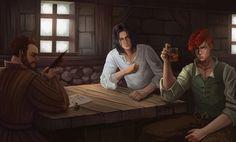 """The Tavern of Waystone"" by Emmanuel Goyer /  emmgoyer7.deviantart.com | LIKE EolianTavern on Facebook at www.facebook.com/eoliantavern!"
