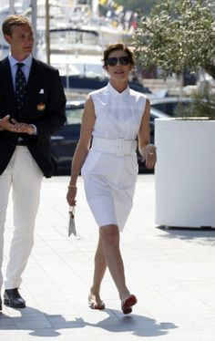 Princess Caroline of Hanover (R) and Pierre Casiraghi arrive for the inauguration of the new Yacht Club of Monaco, 20.06.2014 in Monaco.