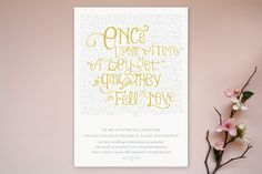 Once Upon Wedding Invitations by Erin Pescetto at minted.com
