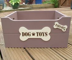 personalised dog toy box by crafty pup   notonthehighstreet.com #toy dog #searchub