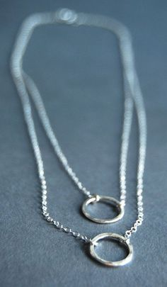 Mele necklace layered sterling silver eternity