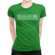 Girl Gamer t-shirt Rated G #geek #fashion