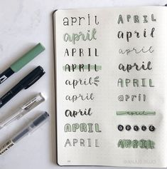 100+ Coolest and cute title and header ideas for Bullet Journal