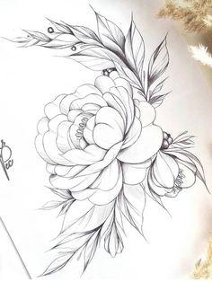 Beautiful Peonies Drawing - Beautiful Peony Rose Sketch Flower Drawing Peony Drawing Peony Pictures Art Drawing Of Beautiful Peony And Green Leaves 32 Ideas Flowers Peonies Drawi. Rose Sketch, Flower Sketches, Drawing Sketches, Drawing Ideas, Sketching, Peony Drawing, Floral Drawing, Drawing Flowers, Beautiful Flower Drawings