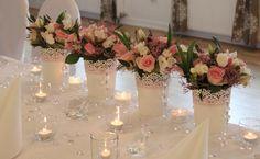 Kompozycja ślubna z żywych kwiatów - Kompozycje kwiatowe - Kufer Dekoracji-Galeria Pastelowy Zakątek