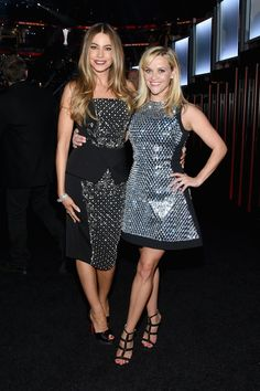 Sofia Vergara and Reese Witherspoon pose backstage during the 50th Academy of Country Music Awards at AT&T Stadium on April 19, 2015, in Arlington, Texas.   - Cosmopolitan.com