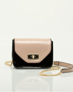Patent crossbody purse