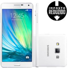 Celular smartphone samsung galaxy a7 duos a700fd branco -dual chip, 4g, tela 5.5, câmera 13mp c/ flash+frontal 5mp, octa core 1.2ghz,16gb, android 4.4