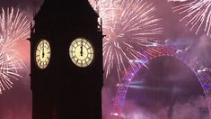 London NYE Fireworks 2016/2017 - London cousins said this was the last time Big Ben would ring for quite some time, as the bells would remains silent until the completion of significant  restoration of the tower