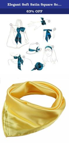 Elegant Soft Satin Square Scarf Bandana Solid Color For Women(Yellow). Product Features: Made of silk-like fabric,soft,thick,and silky. It is the perfect finishing accent to your outfit. Multiple patterns Available,different patterns to fit different occasions and show distinct feelings. Great additions to your collection of fashion accessories. Vibrant color, luxurious silky feel, feminine yet sexy. Trendy, high quality, versatile, and light weight. Gorgeous and beautiful style, fashion...