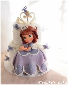 Sofia princess cake, cream and chocolate, torta principessa Sofia, crema e cioccolato