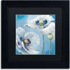Trademark Fine Art Blue Dance II Canvas Art by Lisa Audit, Black Matte, Black Frame, Size: 16 x 16, Multicolor