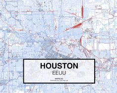 Houston - EEUU. Download CAD Map city in dwg ready to use in Autocad. www.mapacad.com
