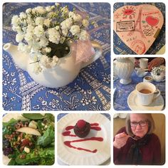 Valentine lunch/tea with my mother.  Fantastic memories being made.