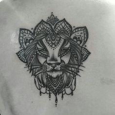Lion mandala tattoo :)