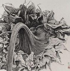 Liu Dan   ink and brush drawing   contemporary