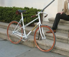 Renaissance Bicycles — custom Soma Buena Vista mixte with Velocity wood rims