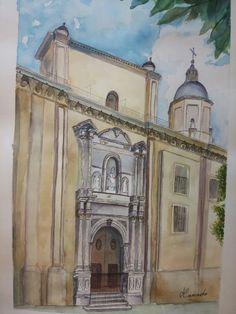 Portada de El Sagrario. Granada (acuatela)