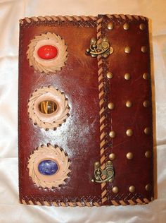 Leather journal / scrapbook / sketchbook / diary.
