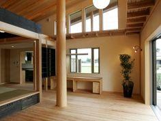 Japanese Modern house, Ima(living room)現代的な日本家屋 リビングルーム