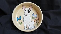 Pit Bull Terrier 10 Dog Bowl for Food or Water Personalized at no Charge Signed by Artist Debby Carman * Want to know more, click on the image.(This is an Amazon affiliate link and I receive a commission for the sales)