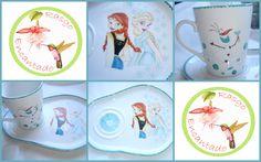 Juego desayunador - Pintura sobre porcelana Rasgo Encantado