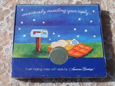 Hallmark+Vintage+Postalettes+Sleeping+Boy+and+by+binguspingusart,+$10.00