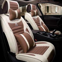 New 3D Car Seat Cover Flax For Toyota Camry Corolla RAV4 Civic Highlander Land Cruiser 200 Prado 150 120 Prius Verso #Affiliate