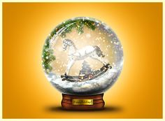 Creating a beautiful Christmas card with a snow globe in Photoshop. This tutorial will teach you how to add snow overlays to an image. Christmas Card Pictures, Beautiful Christmas Cards, Christmas Snow Globes, Christmas Scenes, Free Photoshop, Photoshop Tutorial, Photoshop Video, Christmas Photoshop, Snow Texture