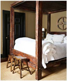 rustic four poster bed | live it up! | pinterest | bedrooms and