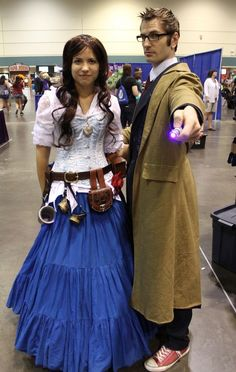 A human TARDIS and The 10th Doctor from Doctor Who | 36 Delightfully Geeky Cosplays From LeakyCon