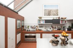 Red quarry tiles line the ground floor double-height kitchen and worktops West Facing Garden, Mews House, Rural Retreats, Beautiful Interiors, Kitchen Interior, Modern Architecture, Home Remodeling, Kitchen Dining, Quarry Tiles