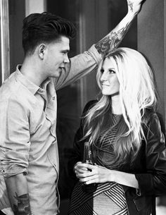 old fashion, bridgett bardot, blonde hair, hair styles, style, leather jacket, tats tattoo, whitney diederich, model, couples, couples pictures 'Beyond Blonde': Photoshoot: 'Good Girl Gone Bad'