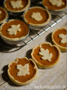 Mini Pumpkin Pies - Mason Jar Crafts Love