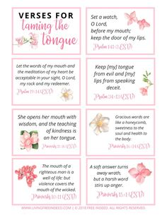 7 Verses to Pray to Start Taming Your Tongue - Free Indeed Prayer Scriptures, Bible Prayers, Bible Verses Quotes, Scripture Verses, Healing Scriptures, Biblical Verses, Bible Notes, My Prayer, Faith Prayer