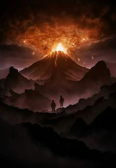 Frodo and Sam at the Foot of Mount Doom