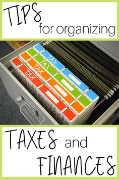 finance organization Find out how to organize taxes and finances with a tax organization binder. Make a simple tax organization filing system using our finance binder and tax time will be a breeze. Filing Cabinet Organization, File Folder Organization, Office Organization At Work, Organizing Paperwork, Finance Organization, Paper Organization, Business Organization, Organizing Life, Organising